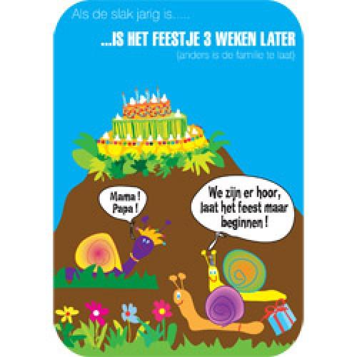 Mum Moves Cards-kleurrijke postkaart mum loves cards-verjaardag slak-5438