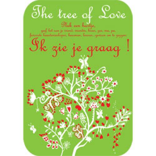 Mum Moves Cards-kleurrijke postkaart mum loves cards-tree of love-5442