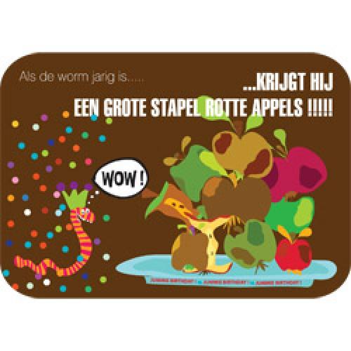 Mum Moves Cards-kleurrijke postkaart mum loves cards-verjaardag worm-5446