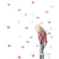 muursticker mini vlinders