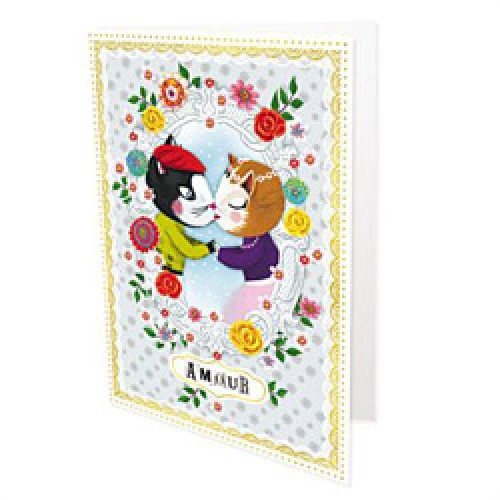 La Marelle Editions-dubbele postkaart Peggy Nille-amour-5504