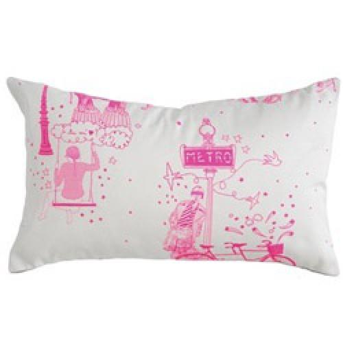 la c rise sur le g teau kussenhoes toile de jouy toile de jouy rose prod5612 nl. Black Bedroom Furniture Sets. Home Design Ideas