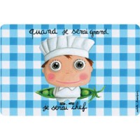 kleurrijke placemat chef kok