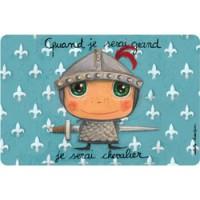 kleurrijke placemat ridder