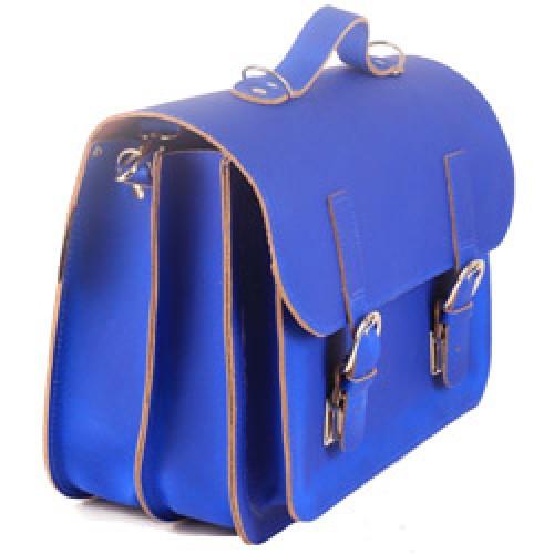 ff297c40703 NIET MEER LEVERBAAR Own Stuff-UITVERKOCHT grote hippe lederen schooltas- cobalt blauw-5721