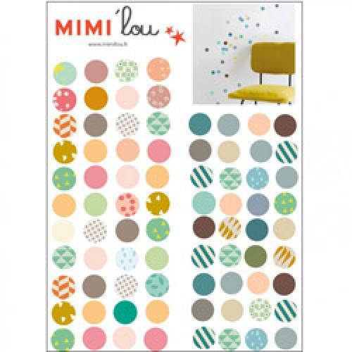 Mim'ilou-mini muursticker bollen-pois-5753