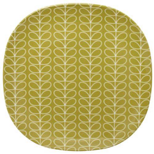 Orla Kiely-vierkant bord in melamine-linear stem greengage-5783
