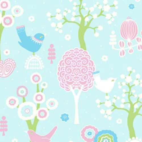 Majvillan-origineel zweeds behangpapier-cherry blossom 102-02-5806