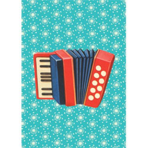Froy en Dind-retro schriftje kers op de kaart-accordeon-5940