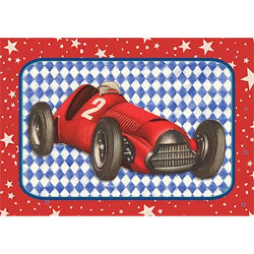 Froy en Dind-postkaart kers op de kaart-racewagen-5958
