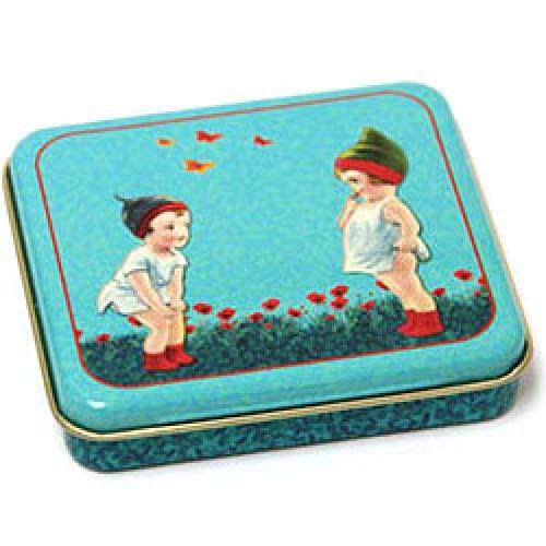 Froy en Dind-klein retro blikken doosje-koppeltje met vlinders-5967