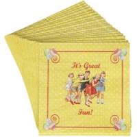 set van 20 kleine papieren servietten