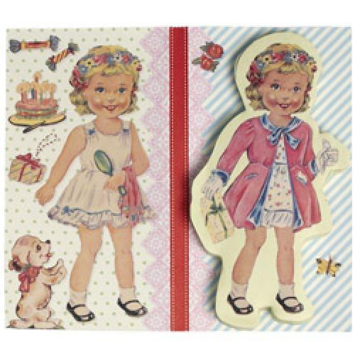 Rex-vintage paper doll plakbriefjes-dress up dolly-6065
