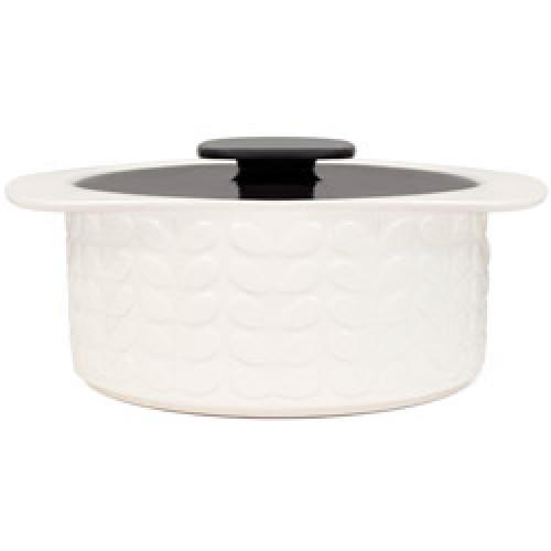 Orla Kiely-stijlvolle witte keramische ovenschotel-raised stem charcoal-6301