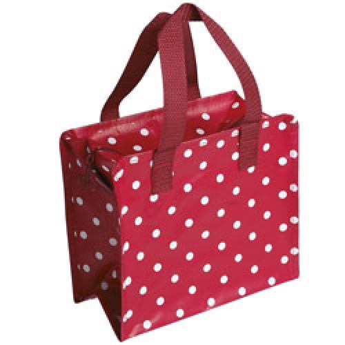 Rex-schattig winkel of lunchtasje-polka dots rood-6307