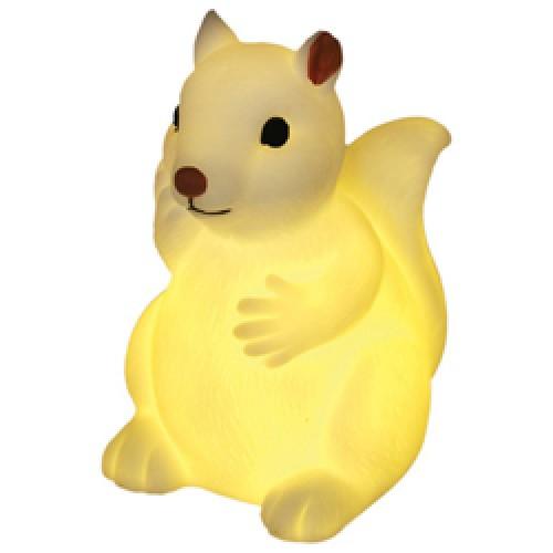 Rex-schattig nachtlampje baby eekhoorn-baby eekhoorn wit-6480