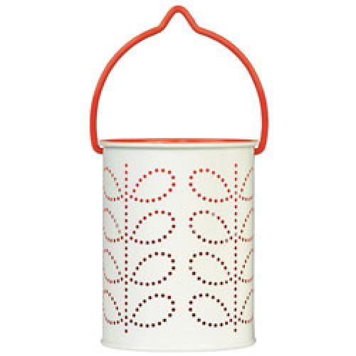 Orla Kiely-prachtige theelicht lantaarn-oranje rood-6594