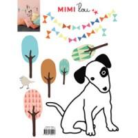 muursticker chien parisien