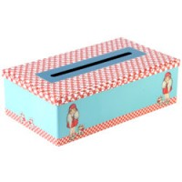 retro blikken tissue box