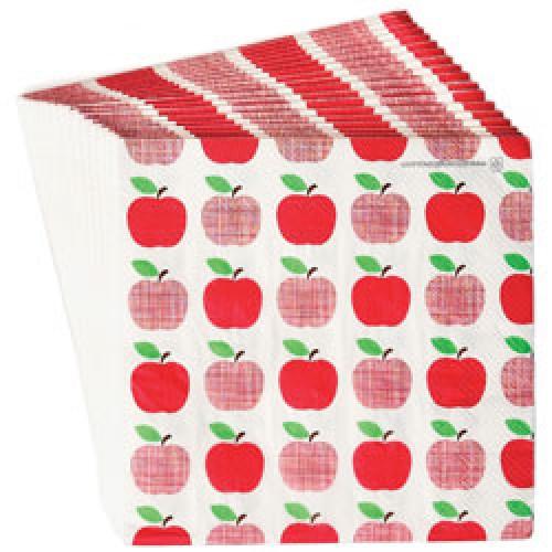 Rex-set van 20 papieren servietten-appel-7153