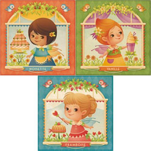 La Marelle Editions-set van 3 postkaarten gaia bordicchia-set gaia bordicchia 1-7208