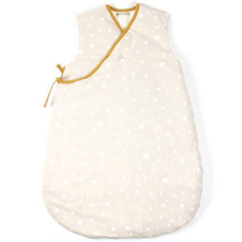 Nobodinoz-slaapzak 0-6 maanden-zand met witte sterren-7235