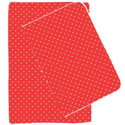 Nobodinoz-prachtige dekbedovertrek 70 x 140 cm-rood met witte sterren-7239