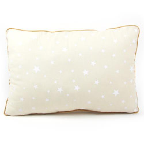 Nobodinoz-hip kussentje jack 23 x 32 cm-zand met witte sterren-7276