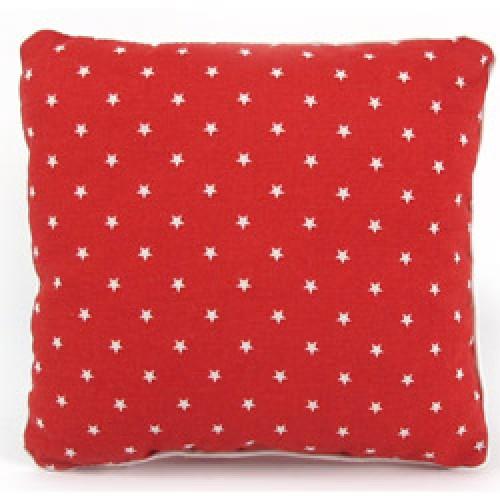 Nobodinoz-schattig kussentje joe 19 x 19 cm-rood met witte sterren-7285