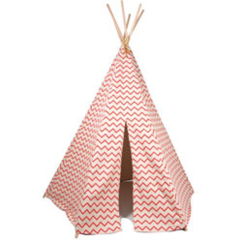 Nobodinoz-superleuke Tipi tent-zig zag roze-7296