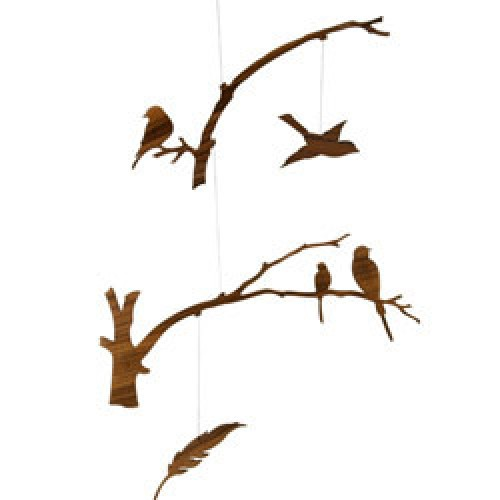 Ige Design-prachtige houten mobile-birds of a feather-733