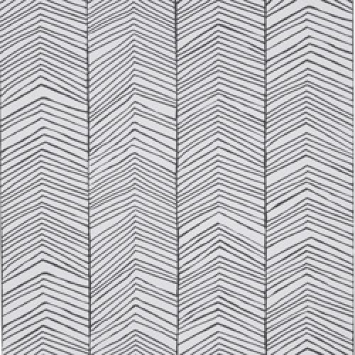 Ferm Living-stijlvol deens behangpapier-visgraat zwart wit-7498