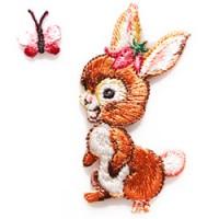 konijn en vlinder strijkapplicatie