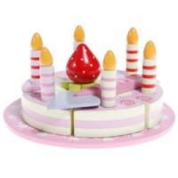 feestelijke houten verjaardagstaart
