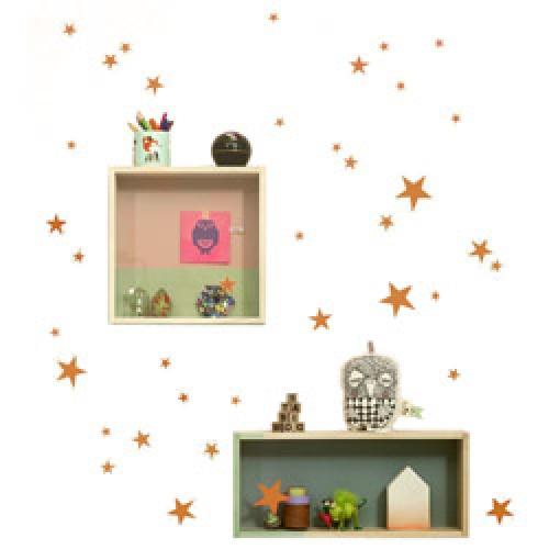 Ferm Living-muursticker mini sterren-sterren koper-7563