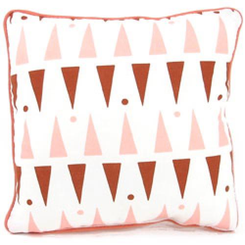 Nobodinoz-schattig kussentje joe 19 x 19 cm-pink terracota triangles-7596