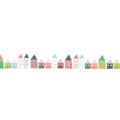 Mim'ilou-muursticker fries huisjes-petites maisons-7668