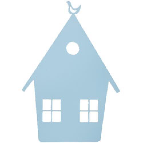 Ferm Living-houten wandverlichting house-huisje licht blauw-7673