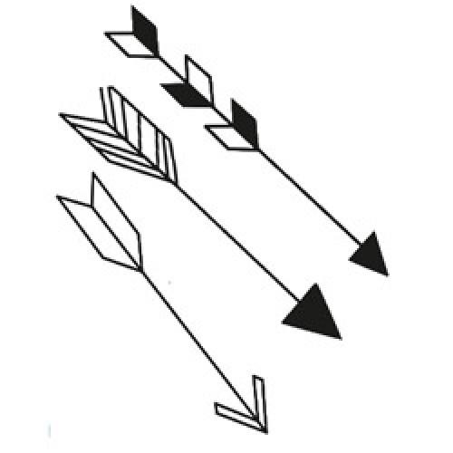 Ferm Living-muursticker mini pijlen-arrow zwart-7675