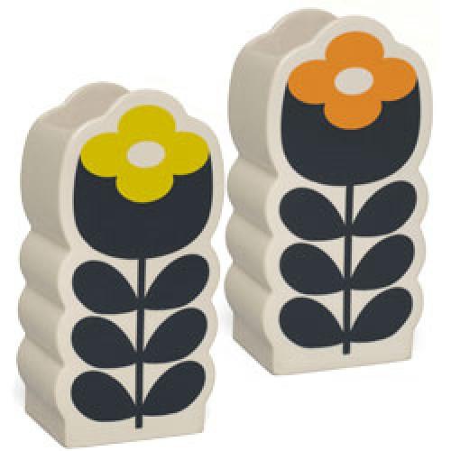 Orla Kiely-kleurrijke vaas poppy-poppy orange lemon yellow-7678