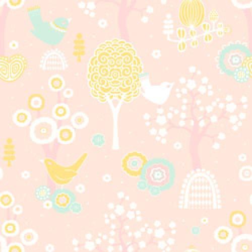 Majvillan-origineel zweeds behangpapier-cherry blossom roze 102-05-7779