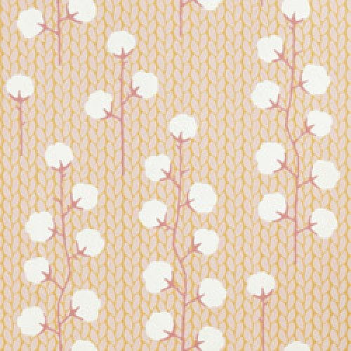 Majvillan-origineel zweeds behangpapier-sweet cotton roze geel-7788