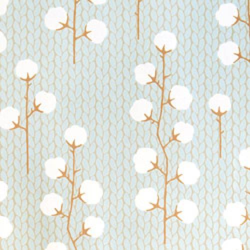 Majvillan-origineel zweeds behangpapier-sweet cotton blauw grijs bruin-7789