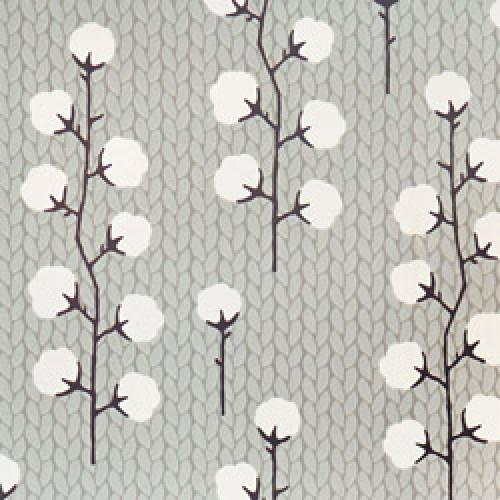 Majvillan-origineel zweeds behangpapier-sweet cotton grijs zwart-7790
