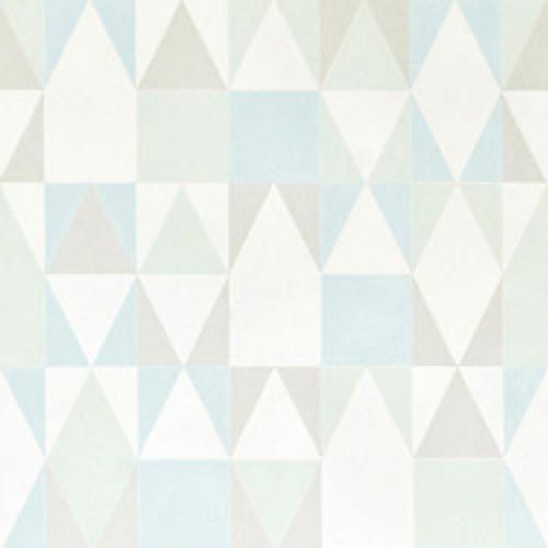 Majvillan-origineel zweeds behangpapier-alice munt turquoise grijs-7792