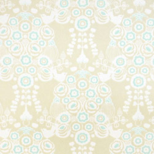 Majvillan-origineel zweeds behangpapier-estelle kakigrijs turquoise-7794