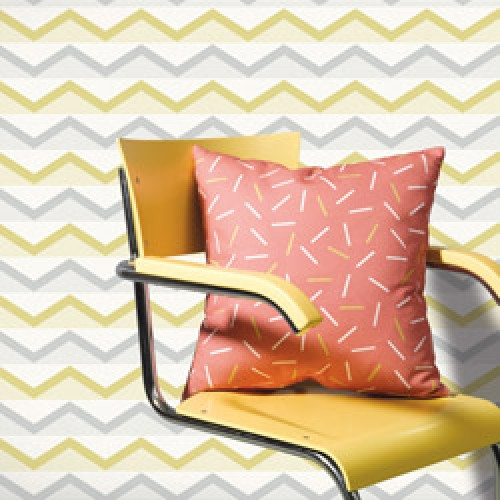 Lavmi-stijlvol behangpapier easy-hills grijs geel-7799