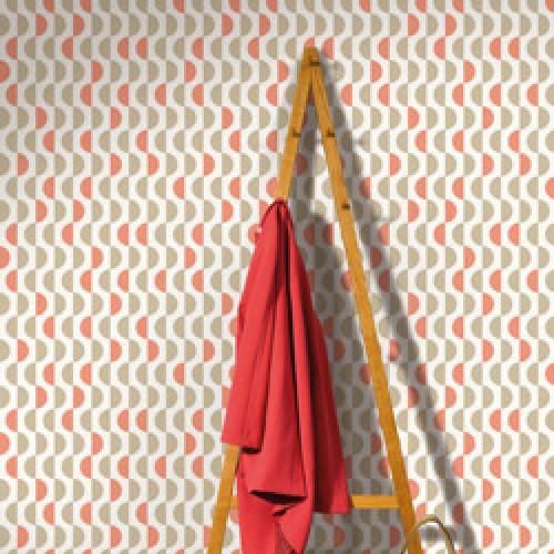 Lavmi-stijlvol retro behangpapier easy-lentils grijs roze-7806