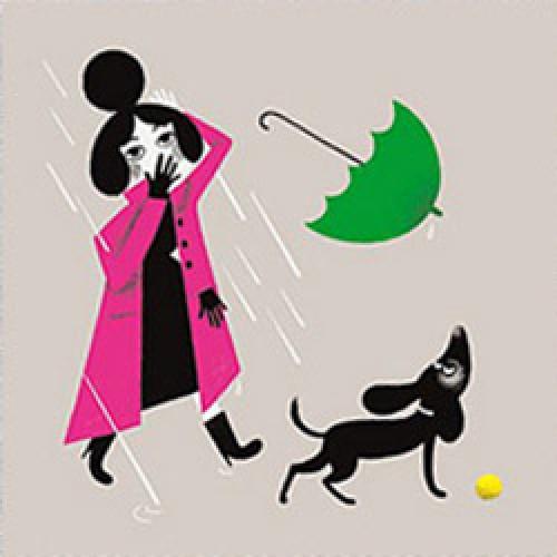 La Marelle Editions-postkaart la marelle-aille mon brushing-7871
