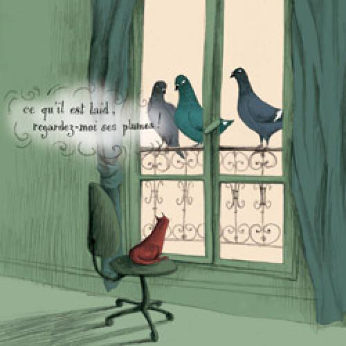 La Marelle Editions-postkaart la marelle-3 pigeons-7885